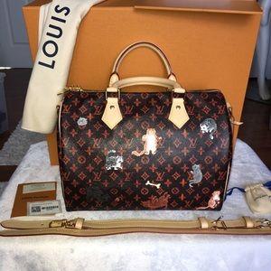 Louis Vuitton Grace Coddington Catagram Speedy Bag